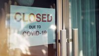 Business office or store shop is closed/bankrupt business due to the effect of novel Coronavirus (COVID-19) pandemic. Unidentifi