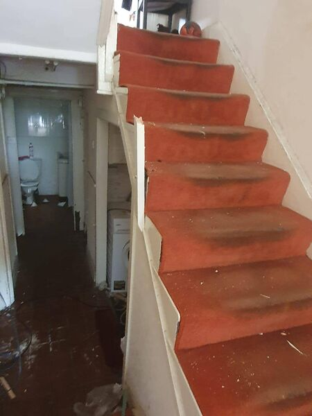 A property in Dublin was found to be damaged when the tenants returned 24 hours later and a team of volunteers, including electricians and carpenters, were onsite to assist with repairs.