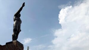 Saluting statue to be removed from Amsterdam's Olympic Stadium