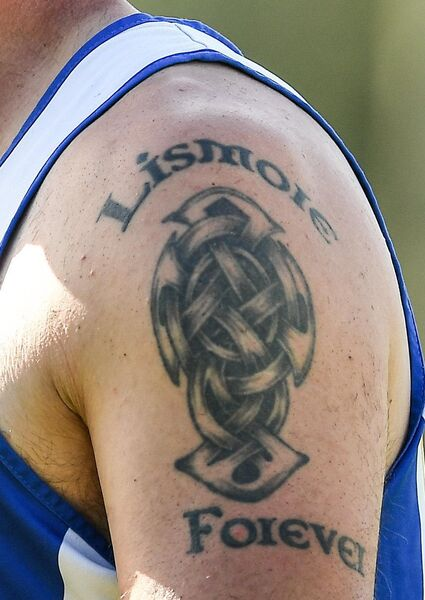 A detailed view of a tattoo on the shoulder of Dan Shanahan of Lismore. Photo by Eóin Noonan/Sportsfile
