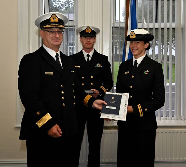 Sub. Lt Tahlia Britton, completed 100 hours of dives up to 38 metres deep, graduating as the first female diver in the Irish Naval Service. Picture: David Jones, Naval Service Photographer