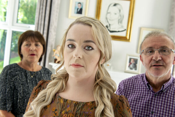 Sinead O'Leary with Nichola's mother Josephine and father         John Sweeney. Picture: Michael Mac Sweeney/Provision
