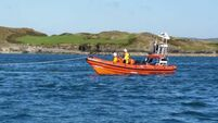 Lifeboat rescues kite surfer struggling with tide in Galway Bay