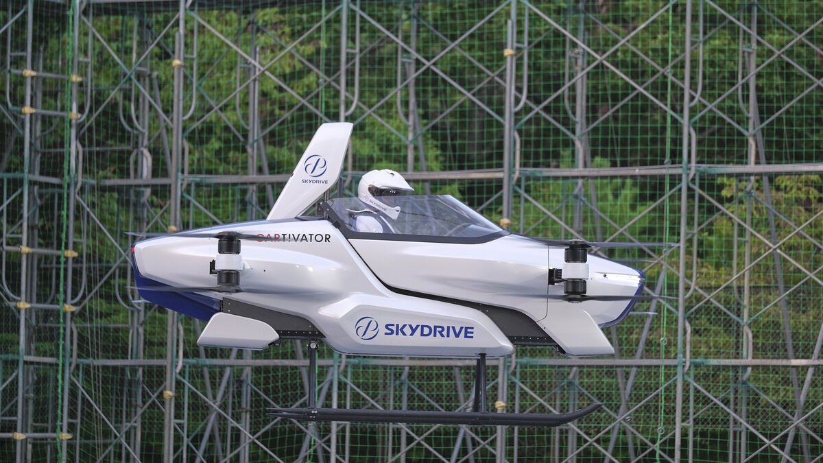 Japan's 'flying car' takes off with a person on board