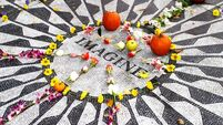 "Imagine"" memorial to John Lennon at Strawberry Fields in Central Park."