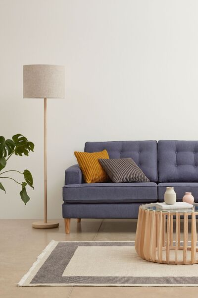 The Scandi look from Next for autumn and winter 2020 includes accent lighting, rugs and occasional furniture in neutral colours to work with any decorating scheme (from €30).