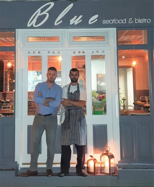 Co-owners Greg Murphy and Ruadhan Furlong of Blue Seafood and Bistro. Picture: Facebook
