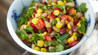 Quick and easy dinners: Derval's three-bean salad is perfect for fit foodies and lazy grazers