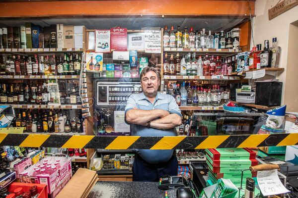 Cork County Council councillor Noel McCarthy, at his Carry Out off licence on Emmet Street, Fermoy. Picture: Neil Michael.
