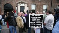 Protestors dispute 'racist abuse' allegations at cancelled Dublin auction