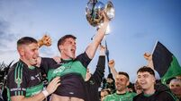 Barry O'Driscoll lifts the trophy 27/10/2019