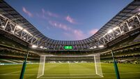 A view of the Aviva Stadium ahead of the game 16/10/2018