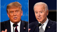 Donald Trump and Joe Biden trade insults in opening election debate