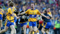 Colm Galvin celebrates at the final whistle 28/9/2013