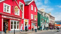 Colorful Dingle town in Dingle Peninsula Ireland