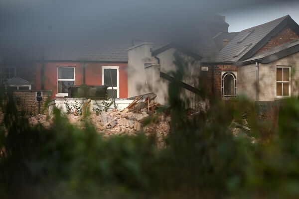 The building was demolished to make way for apartments. Picture: Sam Boal / RollingNews.ie
