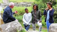 Obamas enjoy Glendalough tour, pub grub with Bono