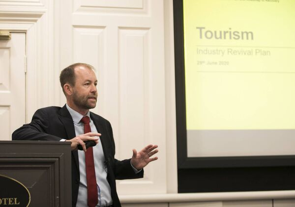 Eoghan O'Mara Walsh is CEO of the Irish Tourism Industry Confederation. Picture: Fennell Photography