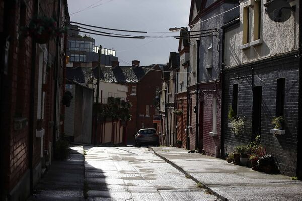 The quiet streets of the Liberties area of Dublin City yesterday morning. Picture: Sam Boal / RollingNews.ie