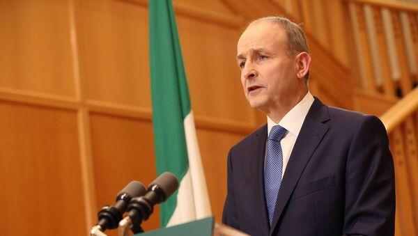 Taoiseach Micheál Martin addressed the nation about the new Level 5 restrictions. Picture: Julien Behal