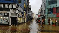 Live: Cork City centre badly hit by floods