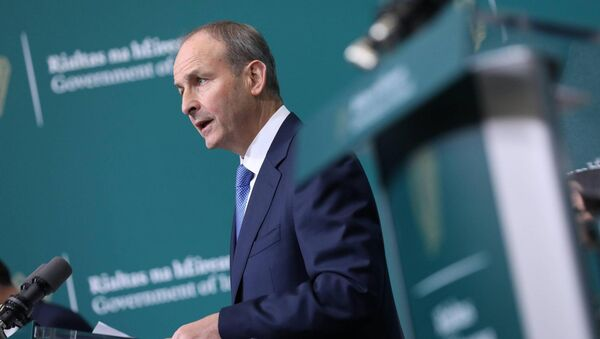 "Taoiseach Micheál Martin acknowledged that the news of a second lockdown, coupled with this morning's floods was ""deeply distressing for business owners. Picture: Julien Behal"