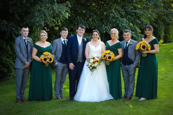 Mairéad Dineen and Kieran O'Brien with their wedding party. Pictures: Davitt Vaughan