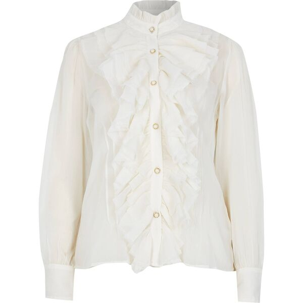 Frill Neck Blouse, €51, River Island