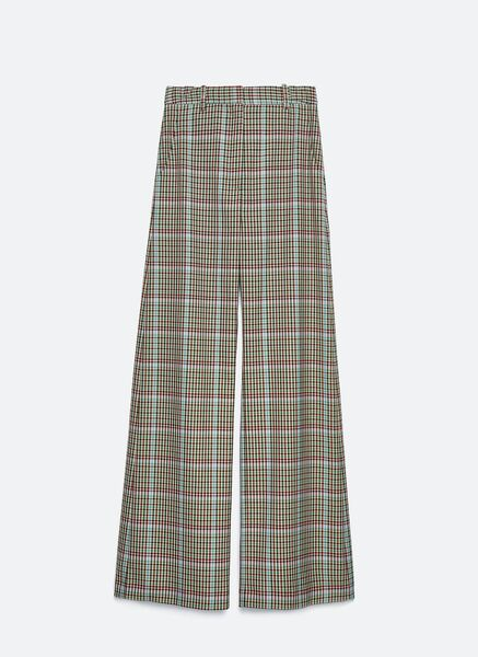 Flared Check Trousers, €119, Uterque