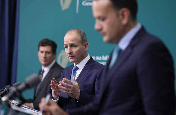 "Tánaiste Leo Varadkar last night hit out at the HSE and told a private meeting of the Fine Gael parliamentary party that it was ""very unfair"" to ""dump"" the tracing problem on GPs. Picture: Julien Behal/PA Wire"