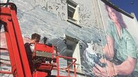 'Her story symbolises the modern Cork': Migrant woman mural almost complete