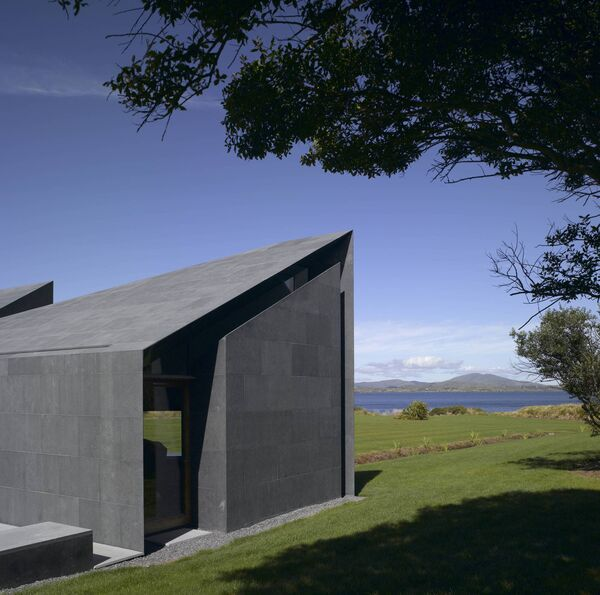 The house is clad in the limestone of the landscape. Picture: Nick Kane