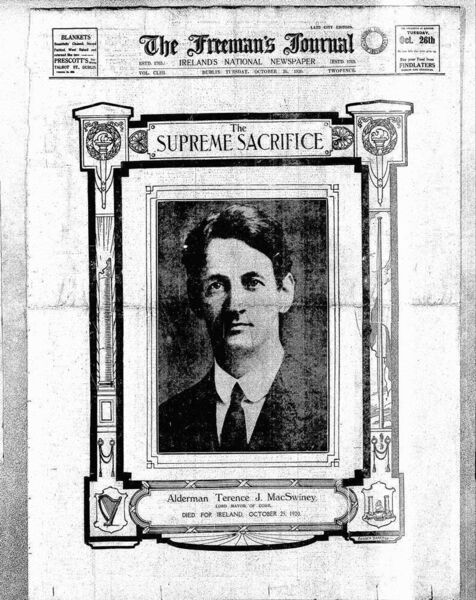 How the newspapers reported the death of Terence MacSwiney