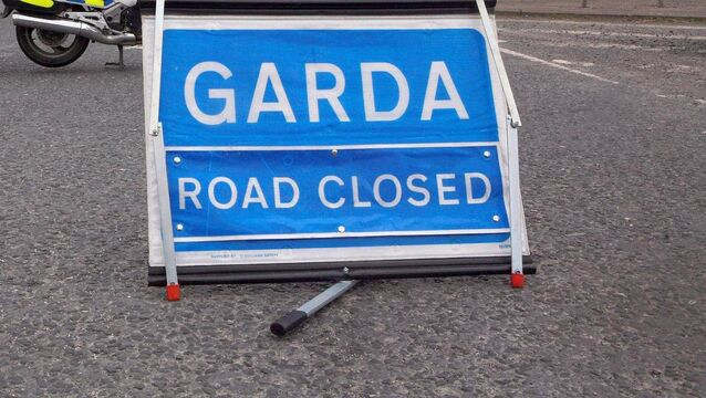 <p>Gardaí say forensic collision investigations are currently taking place at the scene, and that local diversions are now in place. File Picture: PA</p>