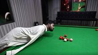 Pakistani snooker player, who plays with chin: 'God has not given me arms, but he has given me courage'