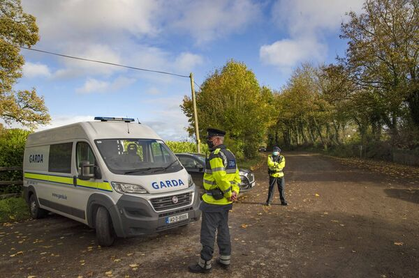 Gardaí pictured at the scene of the fatal shooting at Assolas, near Kanturk, north Cork. Picture: Daragh McSweeney/Provision