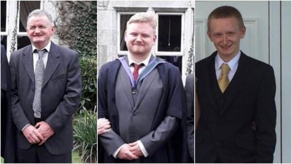 Tadgh, Mark and Diarmuid O'Sullivan who died in a shooting in a remote part of Kanturk in North Cork. Picture: Gardaí