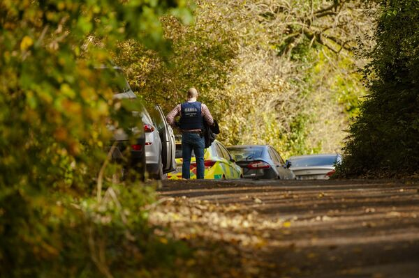 Gardaí at the scene of the fatal shooting at Assolas, near Kanturk, north Cork. Picture: Daragh McSweeney/Provision