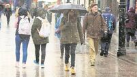 Yellow rainfall warning issued for 10 counties