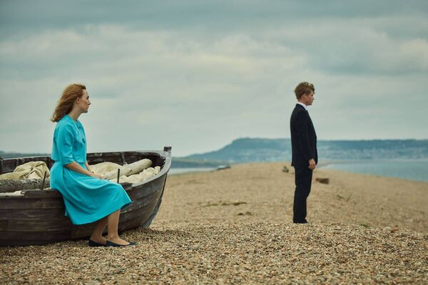 Saoirse Ronan on the Dorset set of the film On Chesil Beach