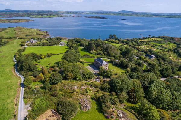 Millionaire's Row? General setting of actor Saoirse Ronan's new West Cork holiday home purchase (not in photo), which she has just bought for c €800,0000 via agent James Lyons O'Keeffe. In the distance across Roaringwater Bay is fellow actor Jeremy Irons' Kilcoe Castle.