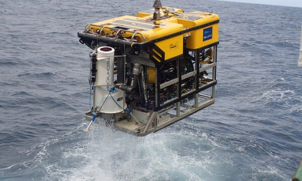 """One of eight Landers used for sample collecting from the sea bed on an ROV (Remotely Operated Underwater Vehicle) aboard the Celtic Explorer."""