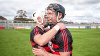 Dessie Hutchinson celebrates after the game with Ian Kenny 30/8/2020