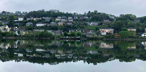 A reflected view of the River Lee at Tivoli viewed from The Marina. Picture: Larry Cummins