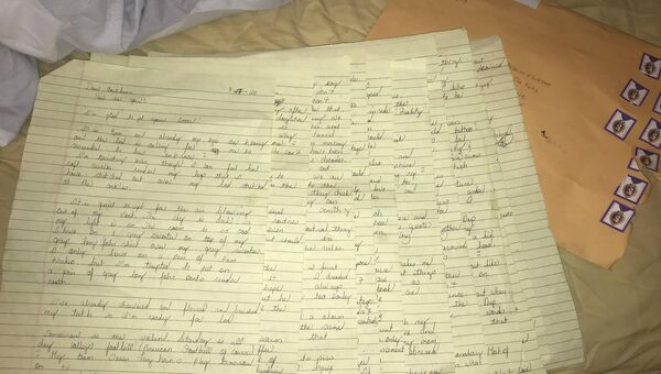 One of Brandon's letters. Source: Aoibhin O'Sullivan