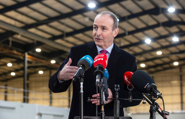 Taoiseach Micheal Martin speaking to media on a visit to Dublin Port. 'Ireland is second-best in Europe for low numbers of cases. Level 3 and level 5 did work, and has worked,' he said. Picture: Julien Behal
