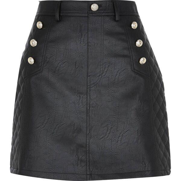 Black Leather Skirt, €40, River Island