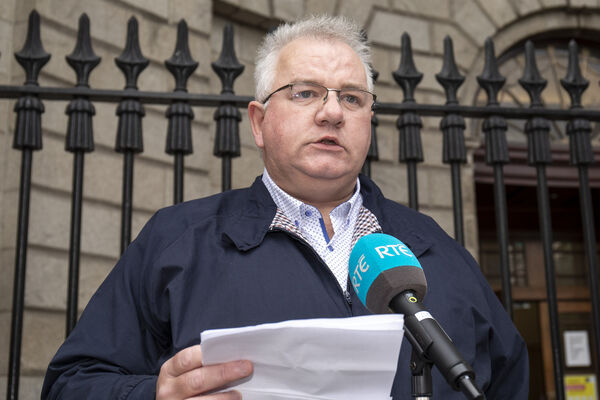 Damien Carrick, husband of Patricia Carrick, was in the courtroom when counsel for the HSE Patrick Hanratty SC read out the apology on behalf of the HSE and the MedLab Pathology Ltd. File photo: Collins Courts