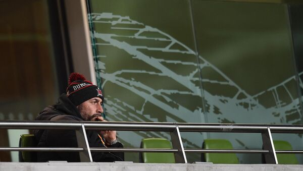 Dundalk interim head coach Filippo Giovagnoli had to watch from the stands. Picture: Ben McShane/Sportsfile