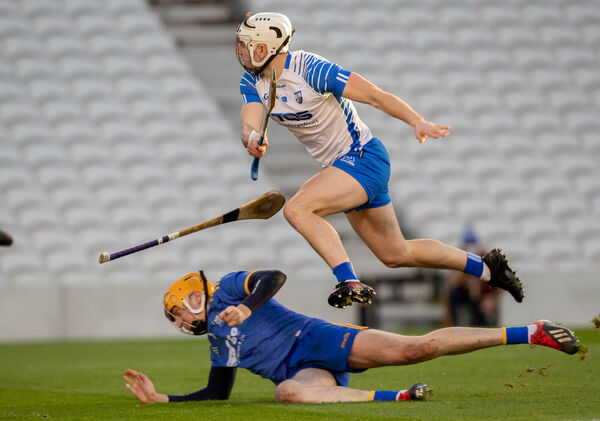 Waterford's Dessie Hutchinson scores his second goal against Clare. Picture: INPHO/Morgan Treacy